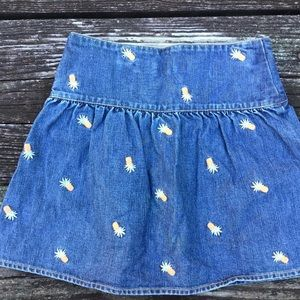 Gymboree Bottoms - Gymboree Aloha Wahine Girls Pineapple Skirt 7